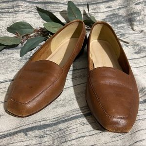 Enzo Angiolini Brown Leather Loafers Size 7.5
